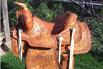 Miss Rodeo Utah Saddle